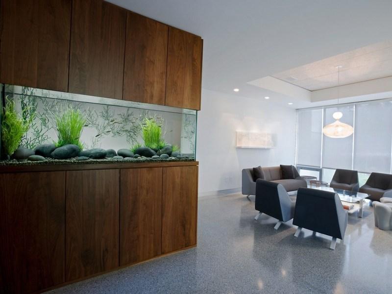 Элегантный офисный аквариум