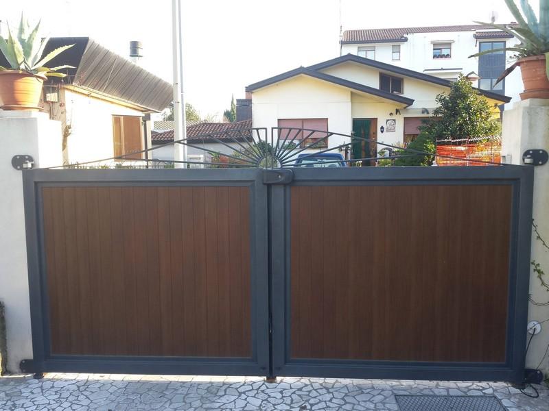 Дизайн деревянных ворот