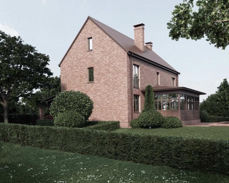 Кирпичный фасад в английском стиле