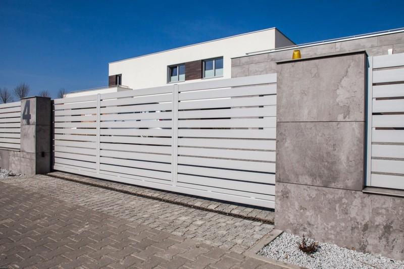 Откатные алюминиевые ворота
