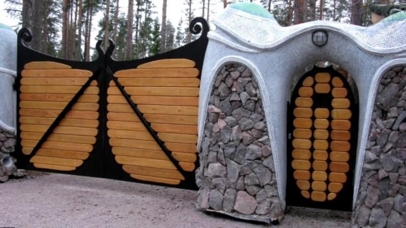 Сказочные ворота с калиткой