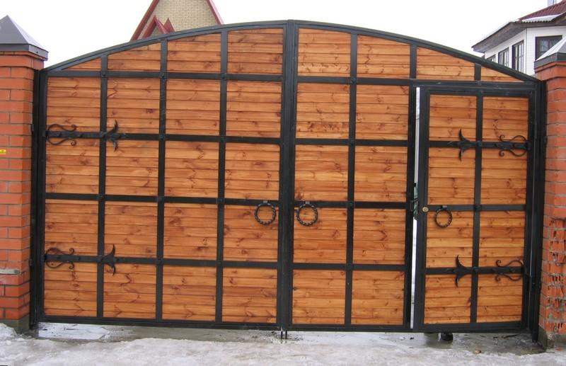 ворота со встроенной калиткой