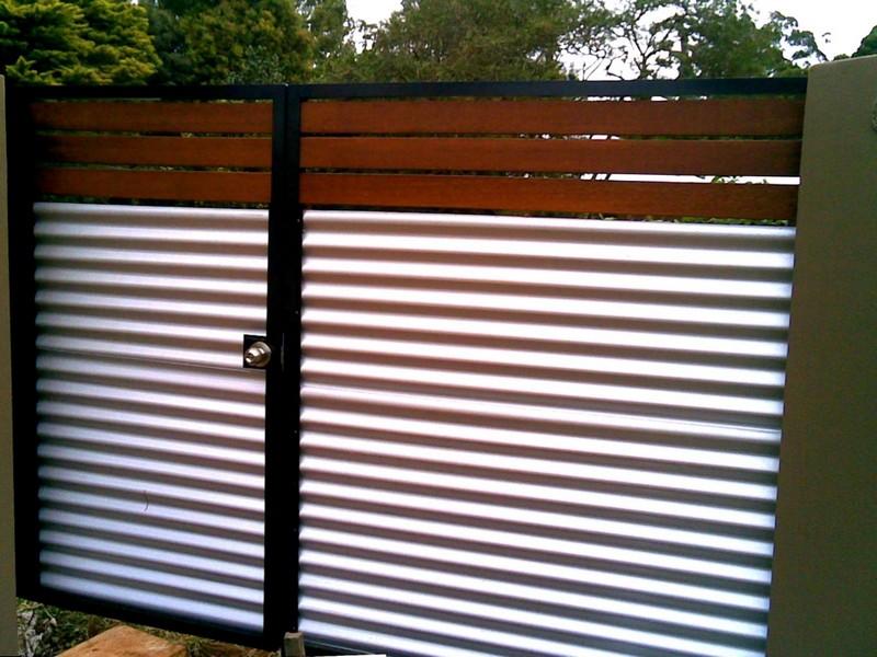 ворота распашные с калиткой фото
