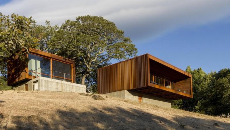 Дом из дерева в стиле минимализм