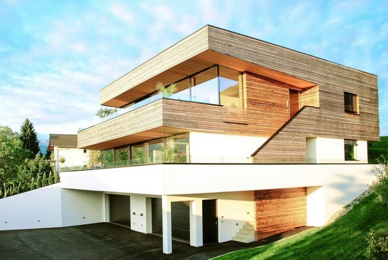 деревянный дом в современном стиле