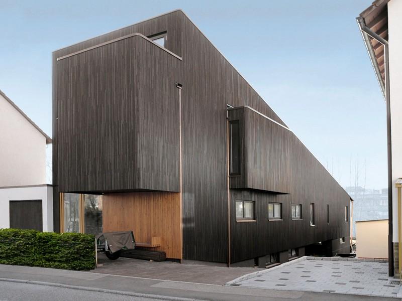 деревянный дом в стиле hi tech