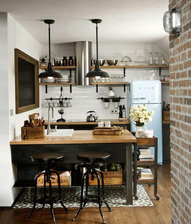лофт дизайн интерьера кухни