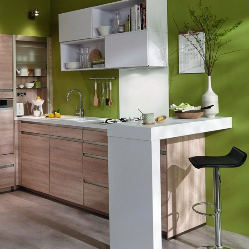 Дизайн светлой кухни в стиле минимализм