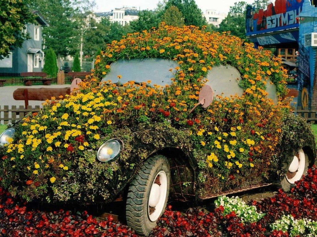 Клумба автомобиль